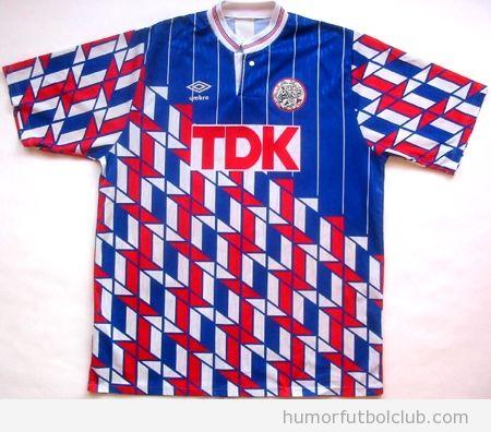 Camiseta con diseño feo del Ajax Away TDK en temporada 1989-1990