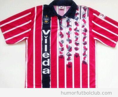 Camiseta fea horrenda segunda equipación del Huddersfield temporada 1993