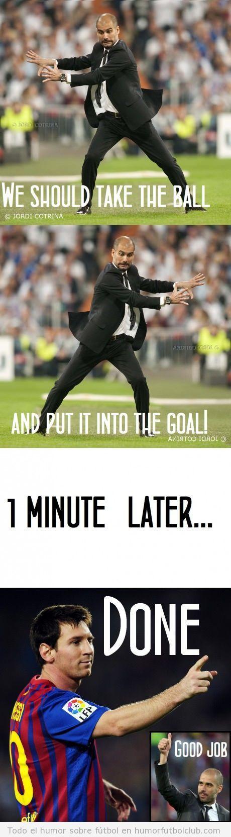 Claves de éxito del fútbol de Pep Guardiola Humor