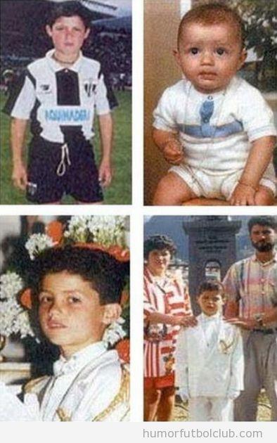 Fotos de Cristiano Ronaldo cuando era pequeño