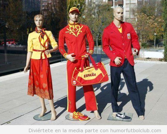 Horrible equipación de España en los Juegos Olimpicos 2012