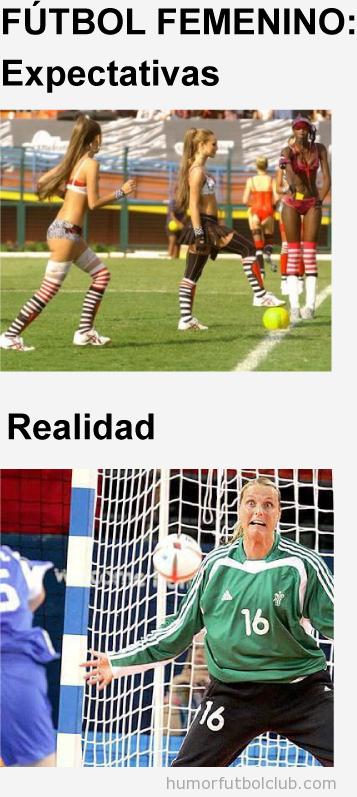 Fútbol Femenino, esperas chicas sexys jugando y encuentras otra realidad