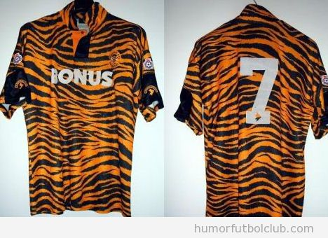 Camiseta fea del Hull City de la temporada 1992