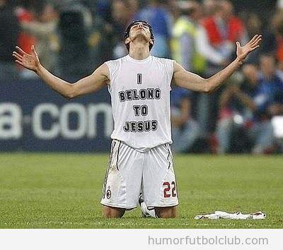 Camiseta de Kaka pertenezco a Jesus