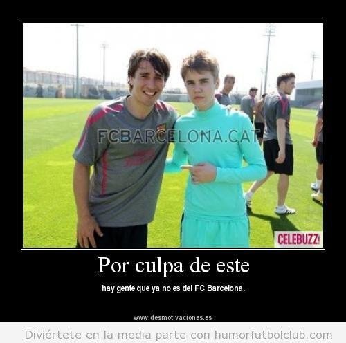 Justin Bieber con Bojan del Barça