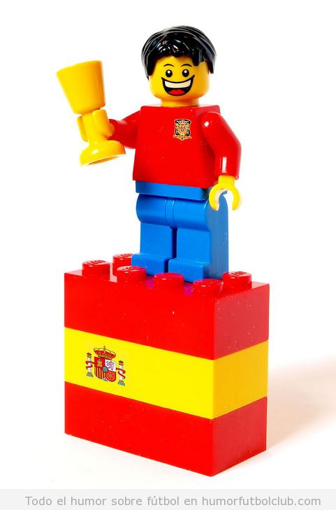 Lego de David Villa de la selección española futbol La Roja