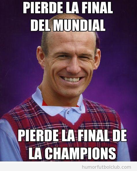 Robben es un loser porque pierde la final del mundial y de la champions en dos años