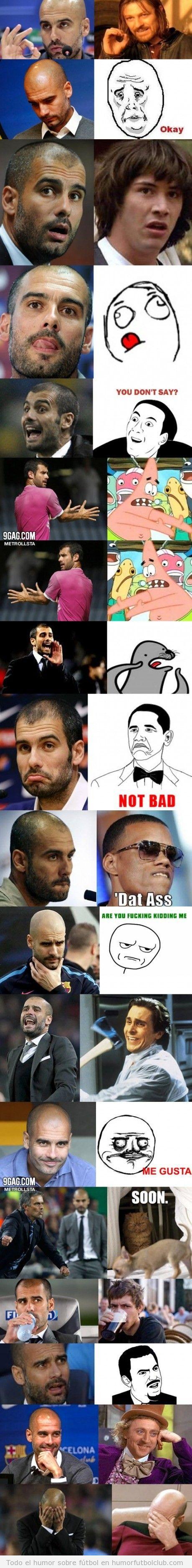 Todos los memes de Pep Guardiola