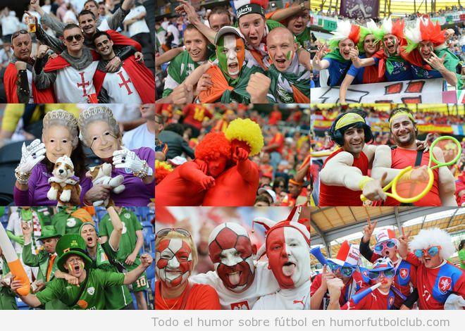 Los aficionados más divertidos, locos y graciosos en la Eurocopa 2012