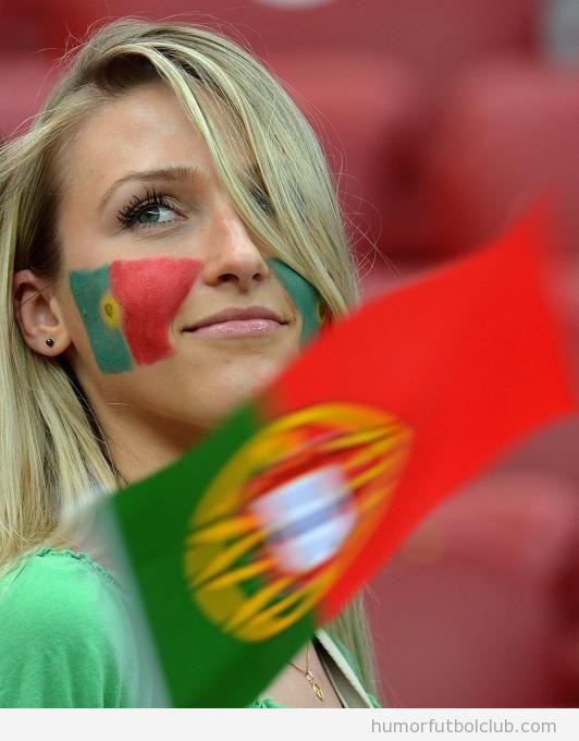 Aficionada de Portugal Sexy y guapa Eurocopa 2012