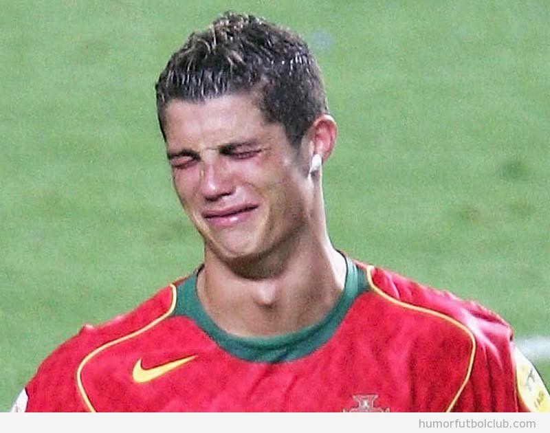 Cristiano Ronaldo llora porque le ha tocado España Portugal en Semifinales