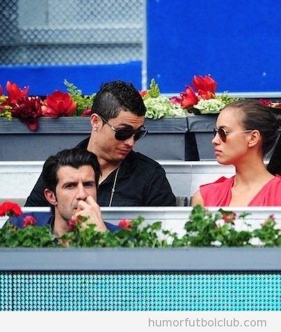 Cristiano Ronaldo con su novia en el palco Eurocopa 2012