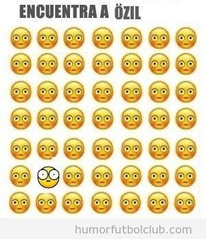 Smileys todos iguales, encuentra a Ozil