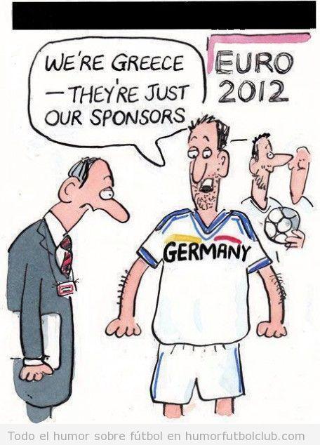 Alemania Germany es el patrocinador de las camisetas de Grecia en la Eurocopa 2012
