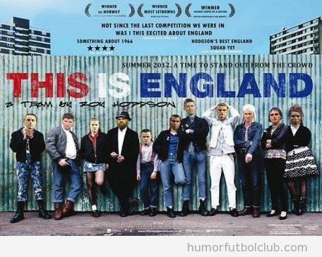 Cartel de la película This is England con los jugadores de la selección inglesa Eurocopa 2012