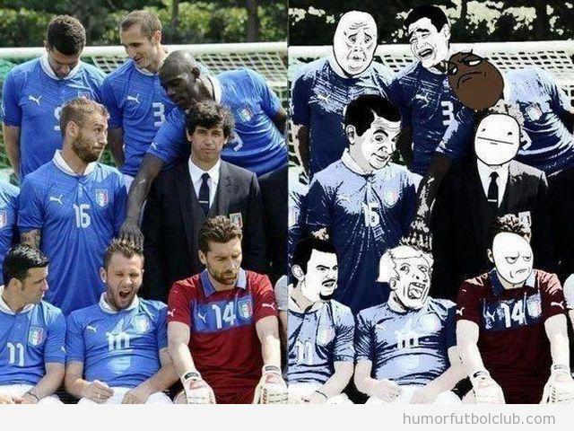 La selección de fútbol de los memes