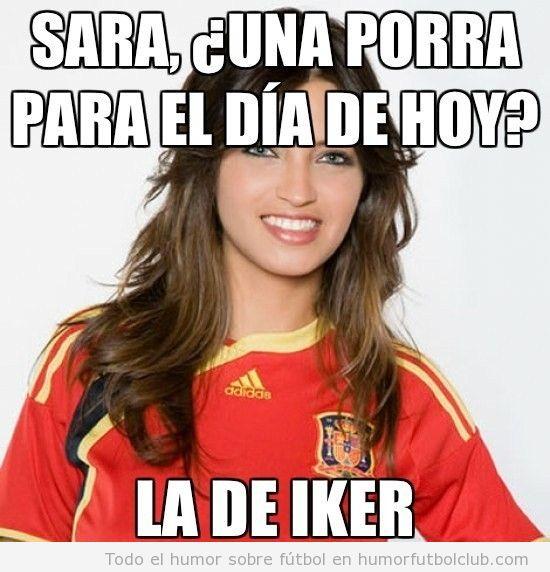 Meme de Sara Carbonero, una porra, la de Iker, Gracias Sara