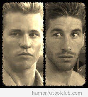 Sergio ramos con su nuevo corte de pelo se parece a Val Kilmer