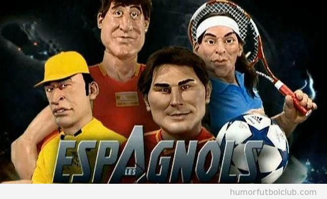 Los Guiñoles representan a los deportistas españoles como Los Vengadores, Nadal, Casillas, Fernando Alonso