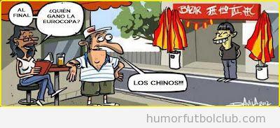 Viñeta graciosa Quién ha ganado Eurocopa 2012, pues los chinos