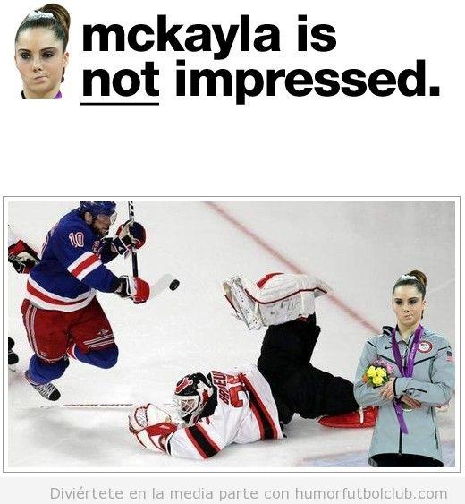 Meme de la gimnasta estadounidense Mckayla Maroney, not impressed