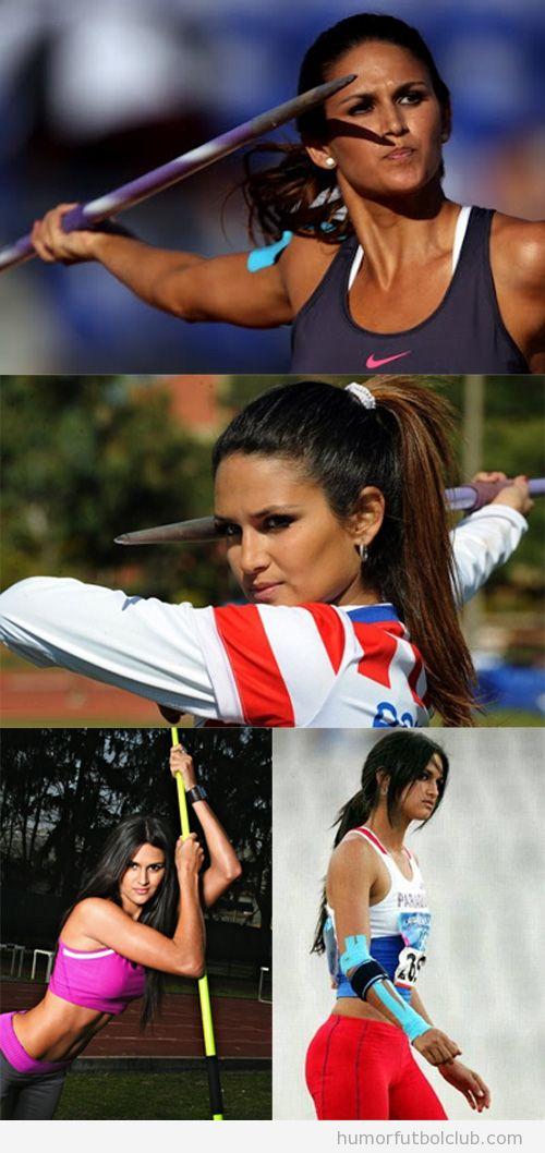 Chicas guapas en los Juegos Olímpicos 2012, Leryn Franco, lanzamiento de jabalina