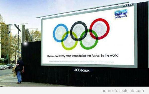 Anuncio de los anillos de Durex en los Juegos Olímpicos 2012 Londres