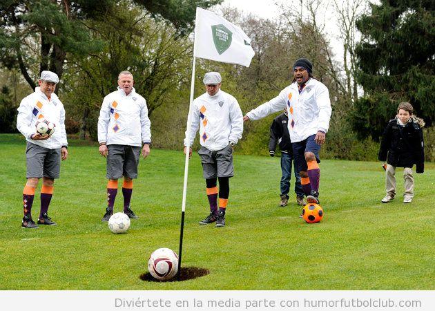 Curioso deporte que mezcla el fútbol y el golf