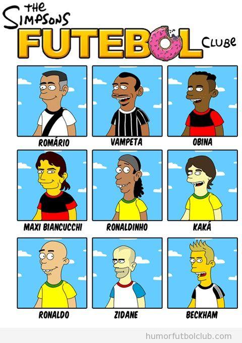 Jugadores de fútbol en los Simpson
