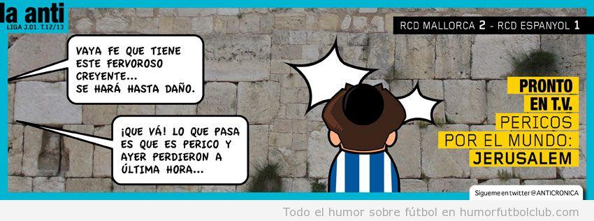 Anticronica perica, muro de las lamentaciones al perder contra el Mallorca