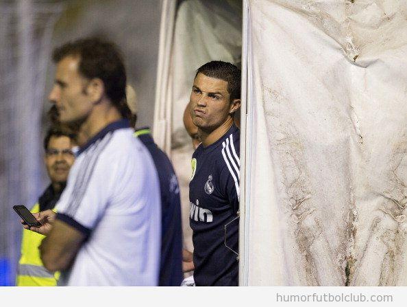 Cristiano Ronaldo is not impressed meme en el Real Madrid contra Rayo Vallecano por el sabotaje eléctrico