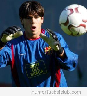 Foto del portero del Barça, Victor Valdés, de joven