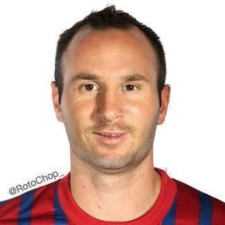 Fotomontaje que mezcla la cara de Messi e Iniesta