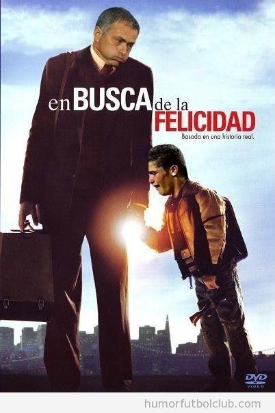 Portada de la película En busca de la felicidad protagonizada por Cristiano Ronaldo y Mourinho