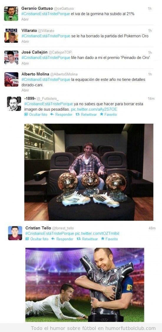 Los mejores tweets de Cristiano Ronaldo está trriste porque