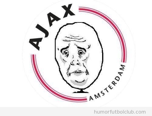 Nuevo escudo del Ajax de Amsterdam con un meme
