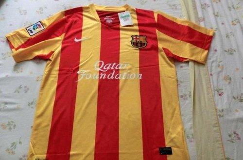 Segunda equipación del Barça con la bandera Catalunya, la senyera, para temporada 2013-2014