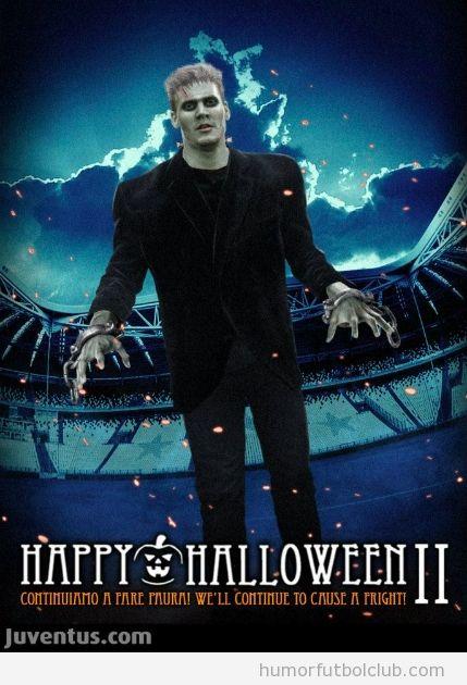 Nicklas Bendtner disfraz Frankenstein