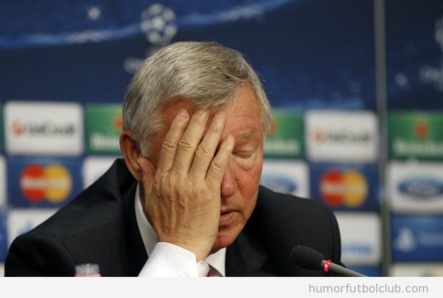 Alex Ferguson facepalm