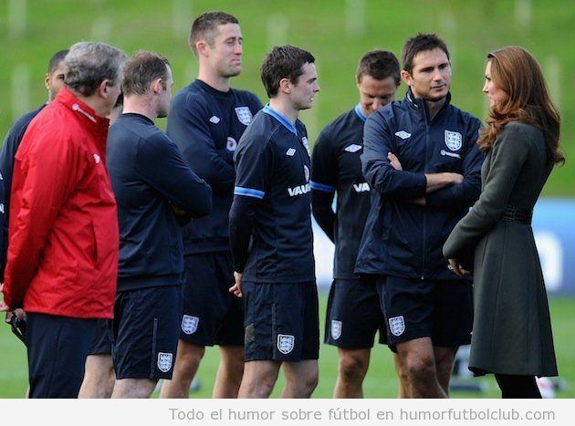 Frank Lampard y su momento de ligoteo con Katte Middleton