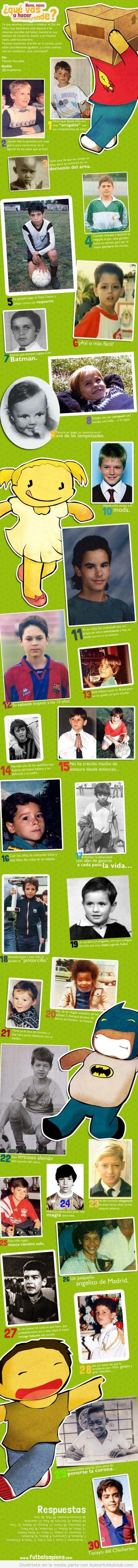 Jugadores de fútbol famosos cuando eran pequeños