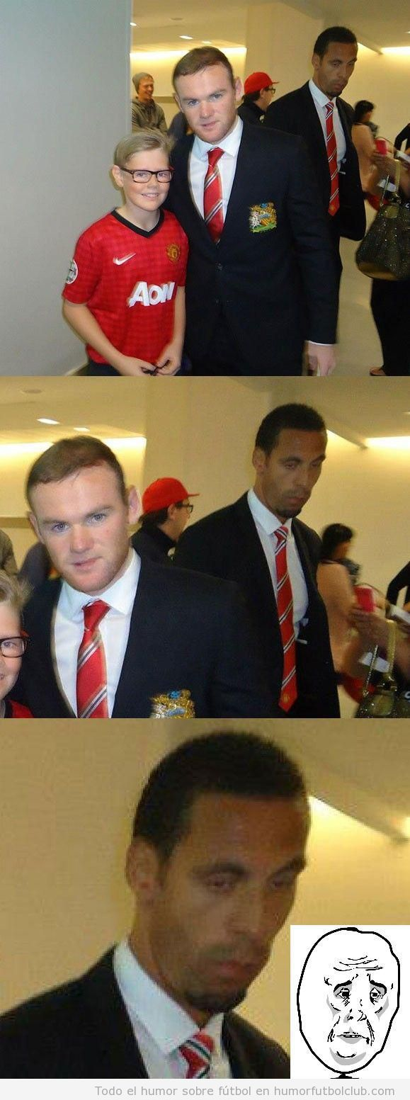 Meme Okay del futbolista del Manchester United Rio Ferdinand