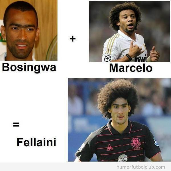 Si sumas a Bosingwa y Marcelo, te sale como resultado un Fellaini