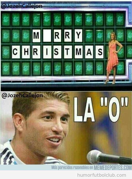 Sergio Ramos en la ruleta de la fortuna, Morry Christmas