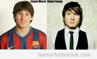 Messi parecido razonable con el músico Adam Young