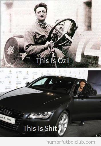 Parecido razonable de Ozil con Enzo Ferrari