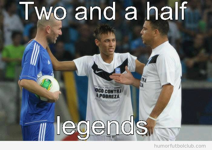 Zidane, Ronaldo y Neymar, Dos hombres y medio