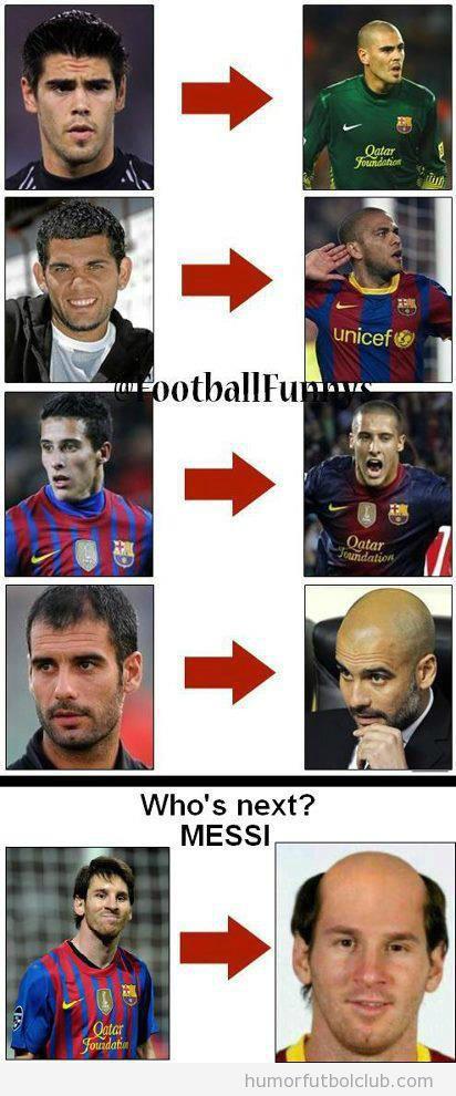 Imágenes graciosas jugadores Barça pierden pelo
