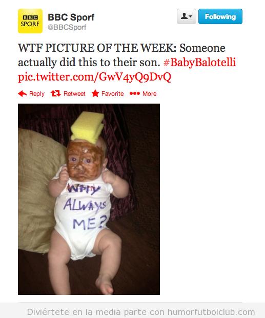 Bebé disfrazado de Balotelli
