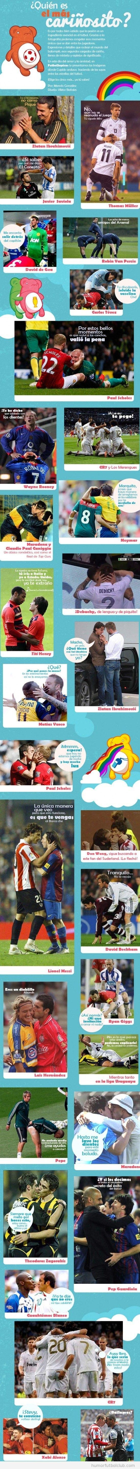 Imágenes graciosaImágenes graciosas de futbolistas abrazándose y dándose amor6499
